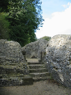 Bramber Castle Steps